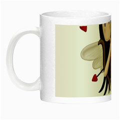 Cupid Girl Night Luminous Mugs by Valentinaart
