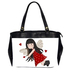 Cupid Girl Office Handbags (2 Sides)  by Valentinaart