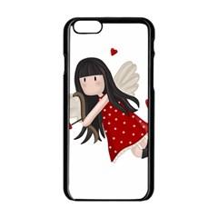 Cupid Girl Apple Iphone 6/6s Black Enamel Case by Valentinaart