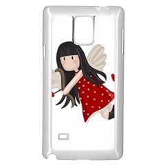 Cupid Girl Samsung Galaxy Note 4 Case (white) by Valentinaart