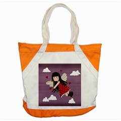 Cupid Girl Accent Tote Bag by Valentinaart