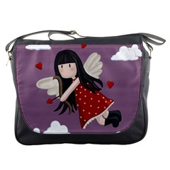 Cupid Girl Messenger Bags by Valentinaart