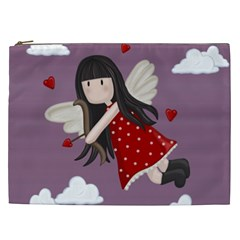 Cupid Girl Cosmetic Bag (xxl)  by Valentinaart