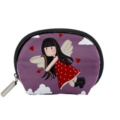 Cupid Girl Accessory Pouches (small)  by Valentinaart