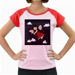 Cupid Girl Women s Cap Sleeve T Shirt by Valentinaart