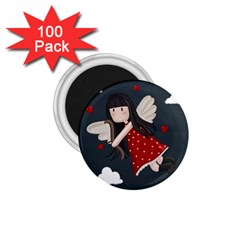 Cupid Girl 1 75  Magnets (100 Pack)  by Valentinaart