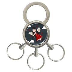 Cupid Girl 3 Ring Key Chains by Valentinaart