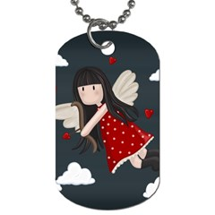 Cupid Girl Dog Tag (two Sides) by Valentinaart