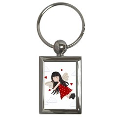 Cupid Girl Key Chains (rectangle)  by Valentinaart