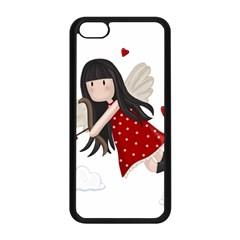 Cupid Girl Apple Iphone 5c Seamless Case (black) by Valentinaart
