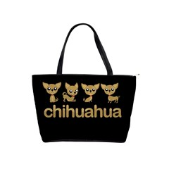 Chihuahua Shoulder Handbags by Valentinaart