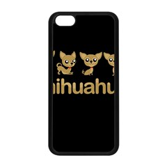 Chihuahua Apple Iphone 5c Seamless Case (black) by Valentinaart