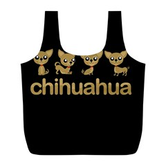 Chihuahua Full Print Recycle Bags (l)  by Valentinaart