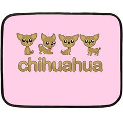 Chihuahua Double Sided Fleece Blanket (mini)  by Valentinaart