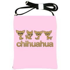 Chihuahua Shoulder Sling Bags by Valentinaart