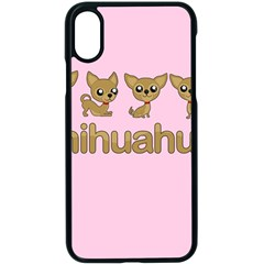 Chihuahua Apple Iphone X Seamless Case (black) by Valentinaart
