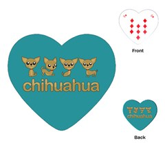 Chihuahua Playing Cards (heart)  by Valentinaart