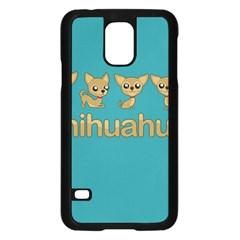 Chihuahua Samsung Galaxy S5 Case (black) by Valentinaart