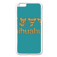 Chihuahua Apple Iphone 6 Plus/6s Plus Enamel White Case by Valentinaart