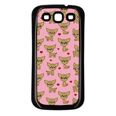 Chihuahua Pattern Samsung Galaxy S3 Back Case (black) by Valentinaart