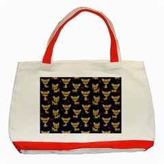 Chihuahua Pattern Classic Tote Bag (red) by Valentinaart