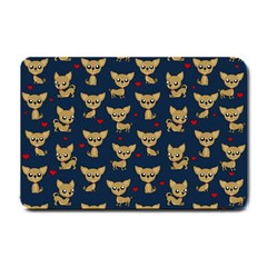 Chihuahua Pattern Small Doormat  by Valentinaart