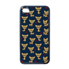 Chihuahua Pattern Apple Iphone 4 Case (black) by Valentinaart
