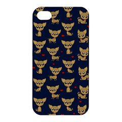 Chihuahua Pattern Apple Iphone 4/4s Premium Hardshell Case by Valentinaart