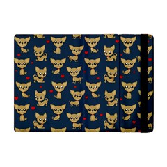 Chihuahua Pattern Apple Ipad Mini Flip Case by Valentinaart
