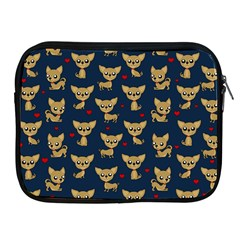Chihuahua Pattern Apple Ipad 2/3/4 Zipper Cases by Valentinaart