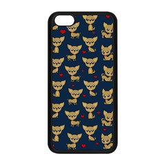 Chihuahua Pattern Apple Iphone 5c Seamless Case (black) by Valentinaart
