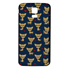 Chihuahua Pattern Samsung Galaxy S5 Back Case (white) by Valentinaart