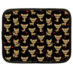 Chihuahua Pattern Netbook Case (xl)  by Valentinaart