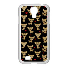 Chihuahua Pattern Samsung Galaxy S4 I9500/ I9505 Case (white) by Valentinaart
