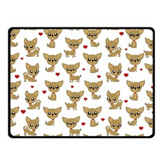 Chihuahua Pattern Fleece Blanket (small) by Valentinaart