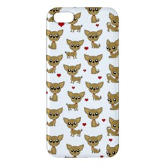 Chihuahua Pattern Iphone 5s/ Se Premium Hardshell Case by Valentinaart