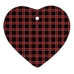 Coke Tartan Heart Ornament (two Sides) by jumpercat