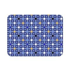 Persian Block Sky Double Sided Flano Blanket (mini)  by jumpercat