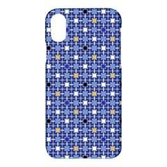 Persian Block Sky Apple Iphone X Hardshell Case by jumpercat