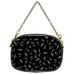 Music Tones Black Chain Purses (one Side)  by jumpercat