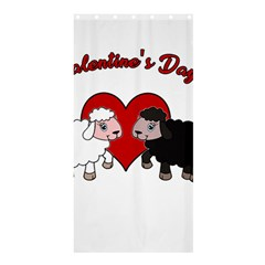 Valentines Day   Sheep  Shower Curtain 36  X 72  (stall)  by Valentinaart