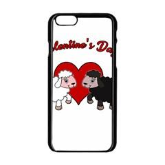 Valentines Day   Sheep  Apple Iphone 6/6s Black Enamel Case by Valentinaart