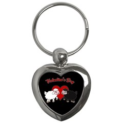 Valentines Day   Sheep  Key Chains (heart)  by Valentinaart