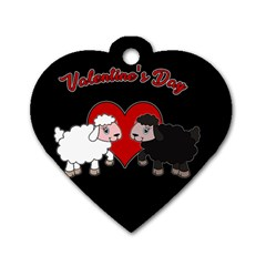 Valentines Day   Sheep  Dog Tag Heart (one Side) by Valentinaart