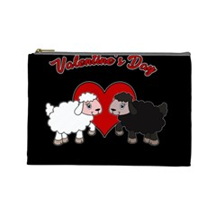 Valentines Day   Sheep  Cosmetic Bag (large)