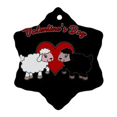 Valentines Day   Sheep  Snowflake Ornament (two Sides) by Valentinaart