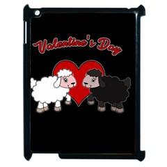 Valentines Day   Sheep  Apple Ipad 2 Case (black) by Valentinaart