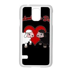 Valentines Day   Sheep  Samsung Galaxy S5 Case (white) by Valentinaart