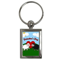 Valentines Day   Sheep  Key Chains (rectangle)  by Valentinaart