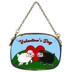 Valentines Day   Sheep  Chain Purses (two Sides)  by Valentinaart